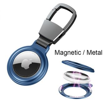 metal magnet airtag keychain case protective sleeve