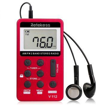 RETEKESS V112 FM AM portable pocket radio
