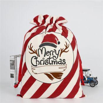 Cotton Canvas Santa Sacks Drawstring Bags