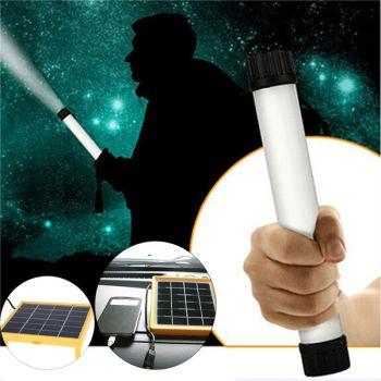 6-LED white light solar spotlight outdoor flood lamp panel