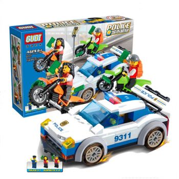 Police station building bricks toy