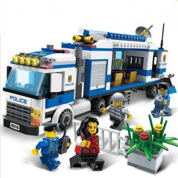 Sluban 2 in1 City Mobile Police Station Building Block Brick Toy