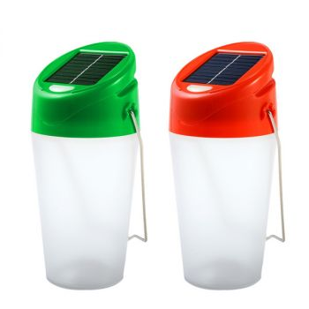 LED solar powered lamp camp night flashlights with hand crank