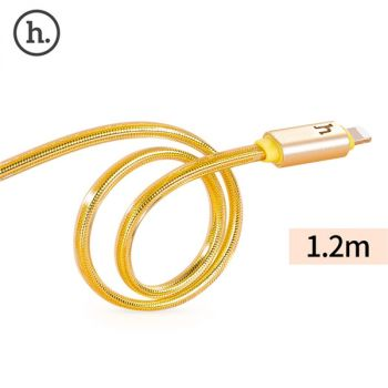 HOCO UPL12 2.4A Metal Texture Breathing Light Braided Cable iPhone 2M