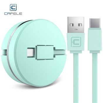 Baseus 2 in 1 Micro USB Type-C Connector 3A Charging Data Transfer Cable 1.2M