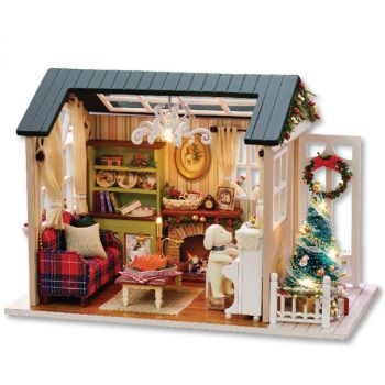 Cute Room Miniature Wooden House Furniture Kit DIY Handcraft Toy