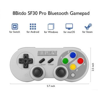 8Bitdo N30 Wireless Bluetooth Gamepad Game Controller for Android PC Mac