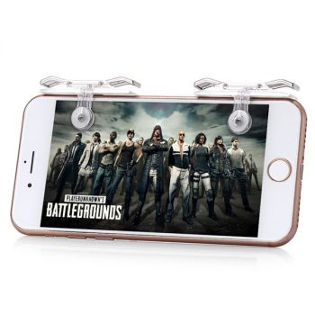 Gaming Trigger Mobile Phone Aiming Fire Button Shooter Controller For PUBG