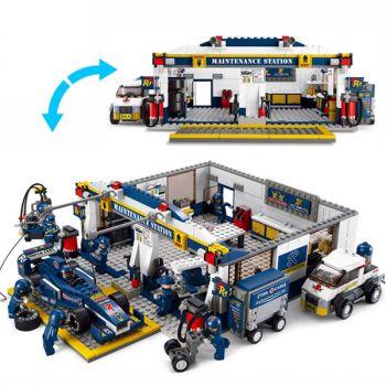 Sluban F1 Formula Racing Car Transport Truck Building Block Brick Toy