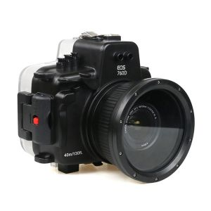 40M Meikon Canon T6s 760D Underwater Housing Waterproof Case