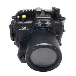 40m Meikon Canon EOS 70D Underwater Housing Waterproof Case 18-135