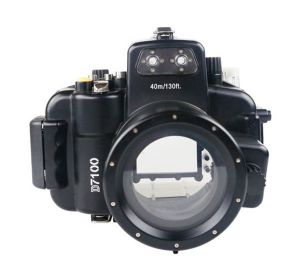 Meikon 40M Nikon D7100 Underwater Housing Waterproof Case 18-55