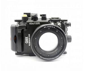 40m Meikon Canon G9X Underwater Housing Waterproof Case 8.8-36.8
