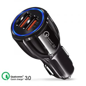 Metal Alloy 5V 2.1A Dual USB Car-Charger Adapter iPhone Samsung