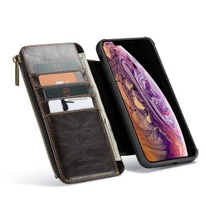 detachable leather wallet case pouch for iPhone 11 pro max mini C53