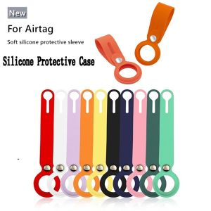 soft liquid silicone protective sleeve case cover for airtag