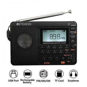 RETEKESS V115 radio AM FM SW pocket radio shortwave FM speaker