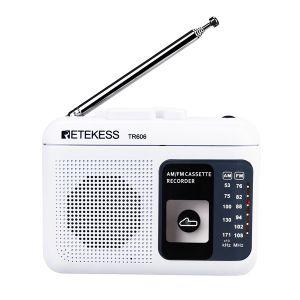 Retekess TR606 cassette portable radio FM/AM voice recorder