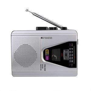 Retekess TR620 FM/AM portable radio cassette playback voice recorder