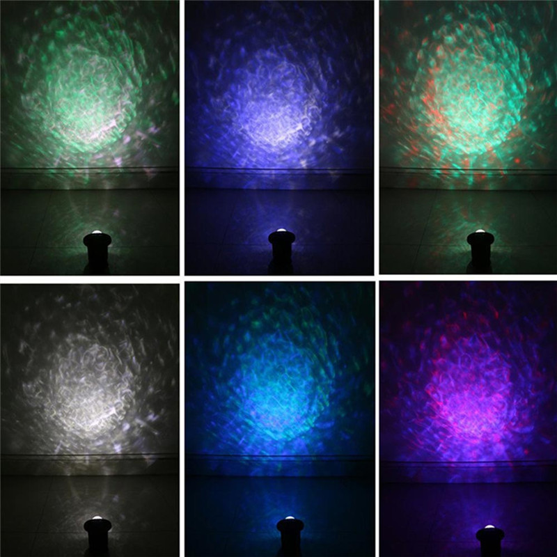 Youoklight 1PCS 12W Rgbw Light Color Changing Mini Led Water Wave Ripple Effect Lamp