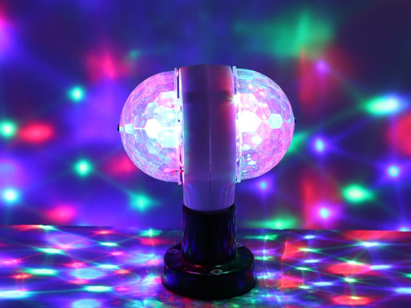 E27 3W colorful auto rotating RGB LED crystal stage light