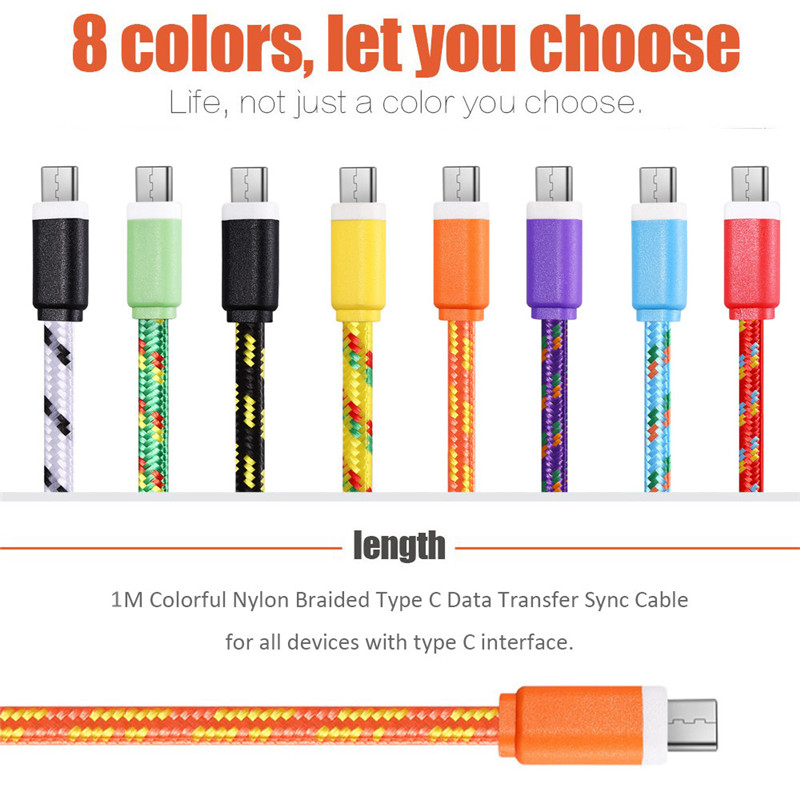 1M Micro USB Flat Charger Cable Cord Adapter for Android Phones