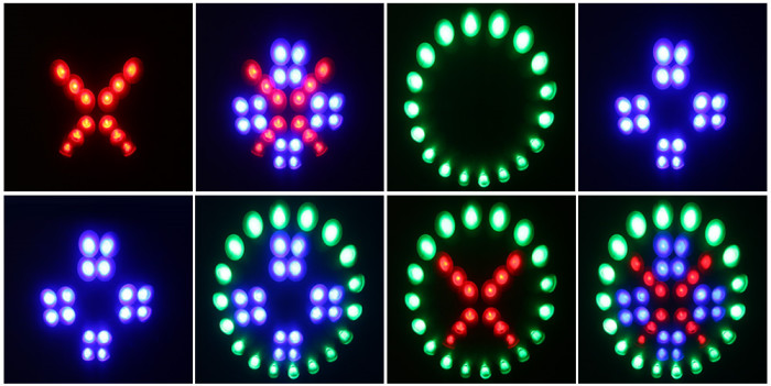 RGB LED Hanging Sound Activated Disco DJ Stage Moon Light