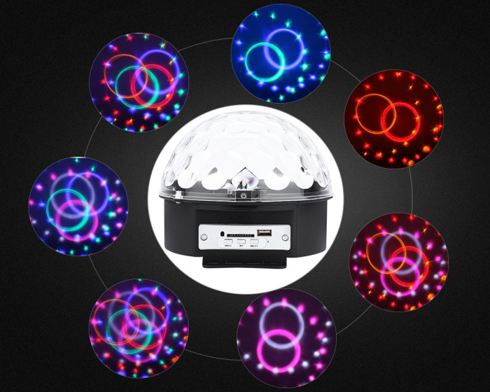 6 LEDs RGB stage light with remote controller