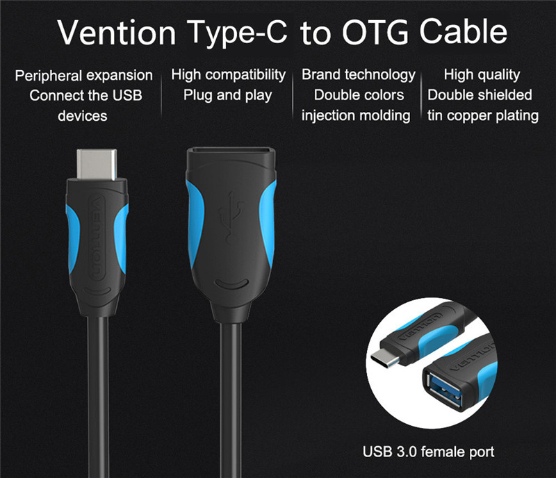 Vention A51 Type-C 3.1 to USB 3.0 OTG Cable