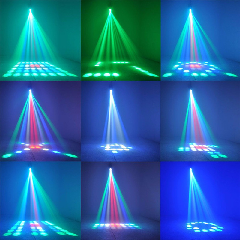 10W 64 LEDs RGBW stage light auto voice-activated projector lighting