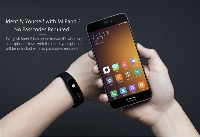 Original Xiaomi Mi Band 2 Smart Watch with Bluetooth 4.0
