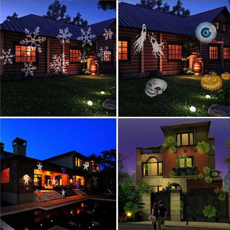 YouOKLight 6W 12 Types Multi-color Christmas Laser Snowflake LED Projector 100 - 240V
