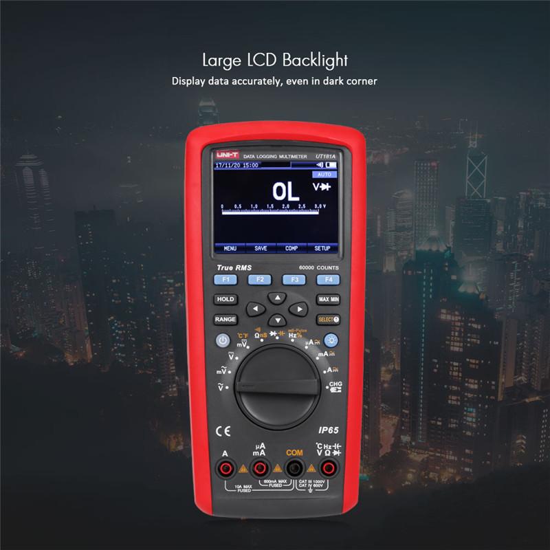 UNI - T UT181A Auto Range True RMS Datalogging Multimeter