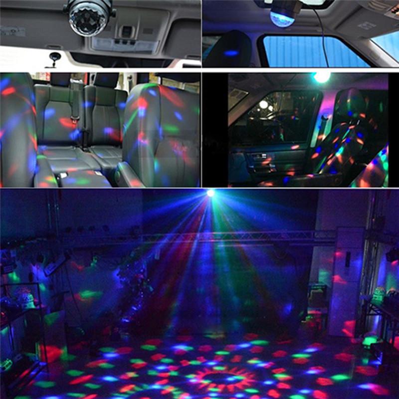 mini RGB LED magic ball light
