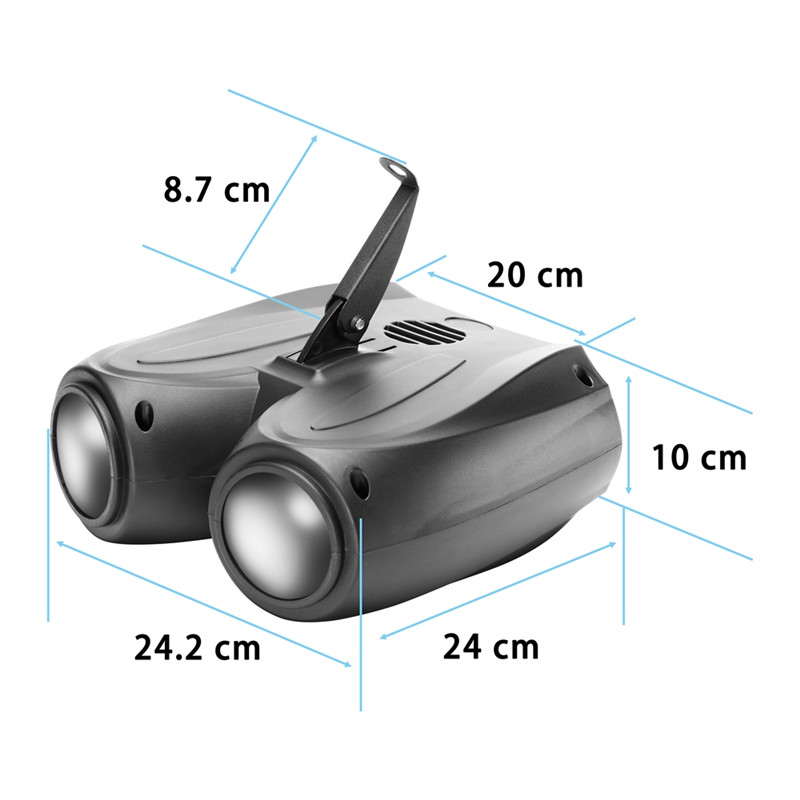 U'King 20W 128 LEDs RGBW projector lamp for stage effect lighting