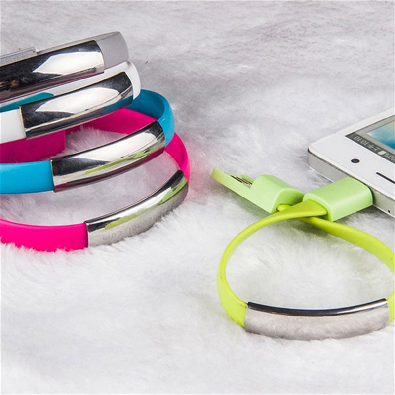 Mini Micro USB Bracelet Charger Cord for Type-C Devices