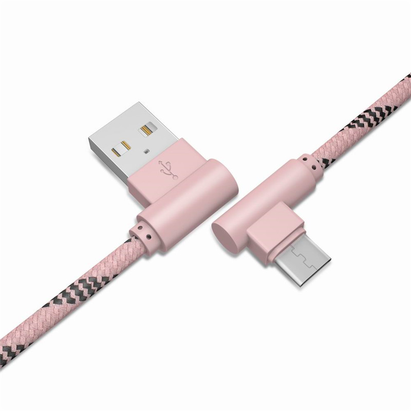 1M Android Cable Charge For Android Cellphone 90 Degree Cable