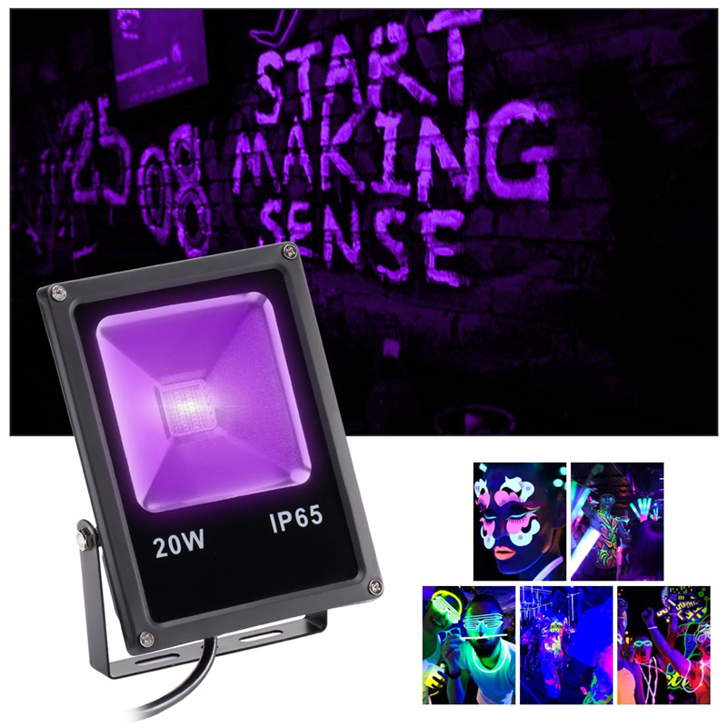 U'King 20W 20 COB UV LED auto floodlight for stage effect lighting
