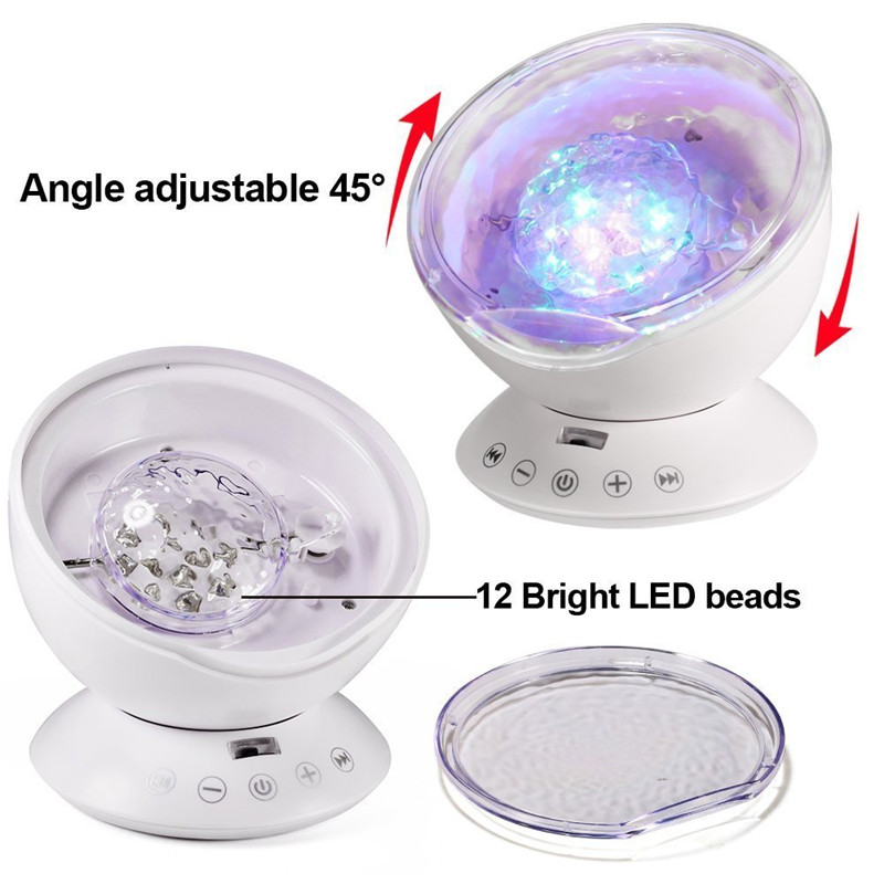 AGM LED night light ocean wave projector starry