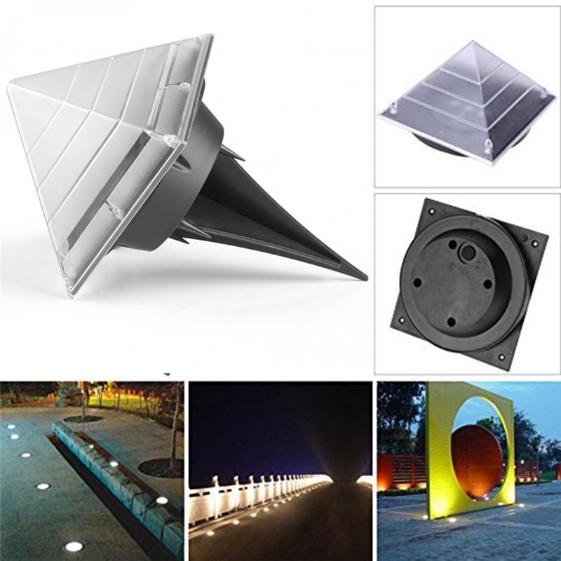 sensor dolar ground lights pyramid shaped outdoor garden lamp