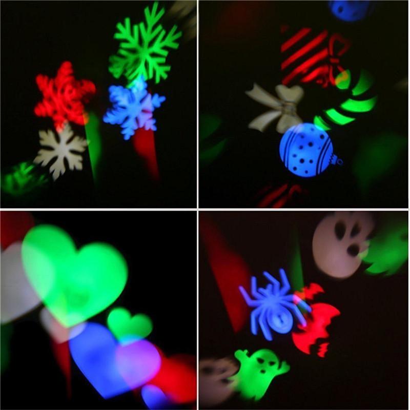 YWXLight NO waterproof LED projection lights snowflake christmas light