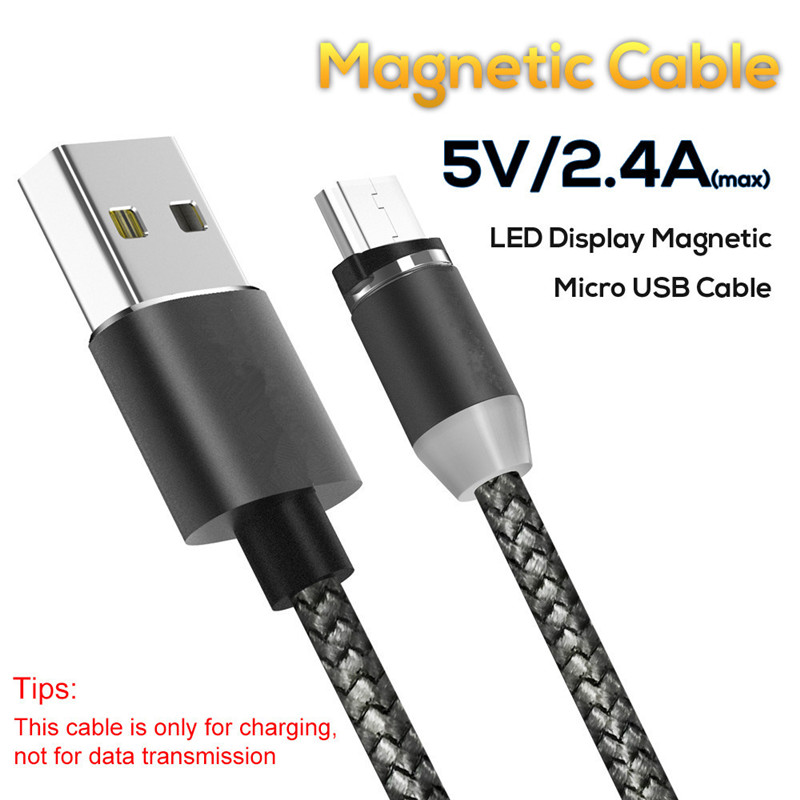 1M Cable Micro USB V8 LED Magnetic USB Charger Magnetic Adapter