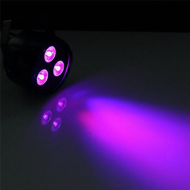 U King 15W 3 Led Par Light Rgb Purple Mixing Stage Effect Light