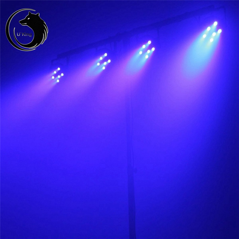 U`King 18W 18 Led Purple Par Light Stage Effect Lighting 1 Remote Control