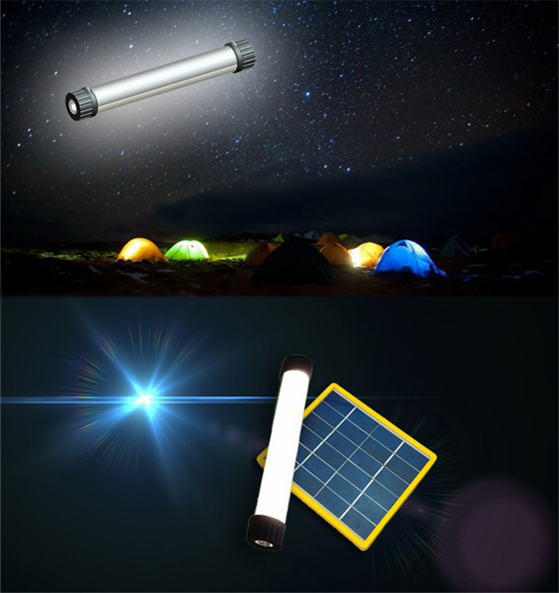 25 LED solar light lamp USB flashlight torch power bank for camping hiking