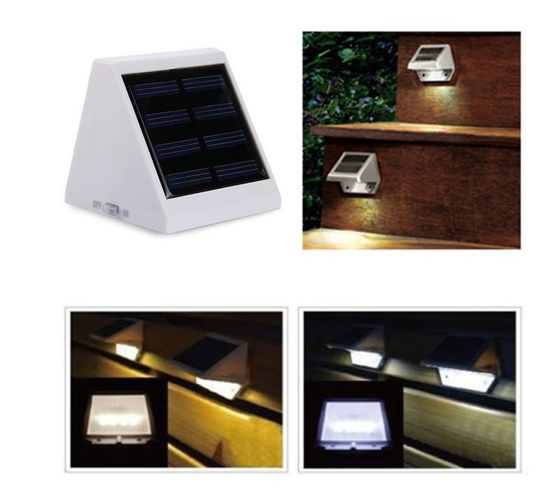 4 LED Solar Outdoor Garden Lamp Light