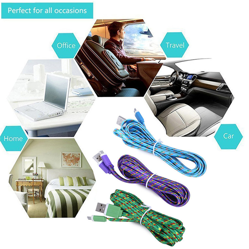 2M Micro USB Flat Synchronization Charger Cable for Android Phones