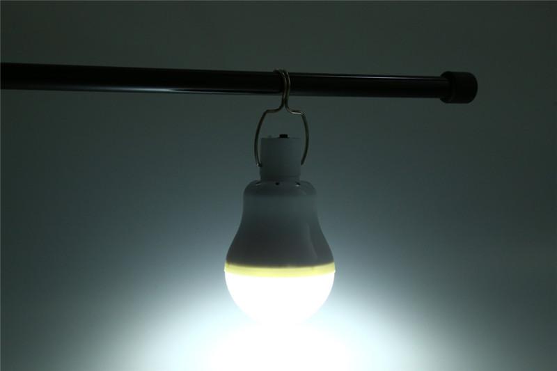 4W LED solar powered light bulb for camping