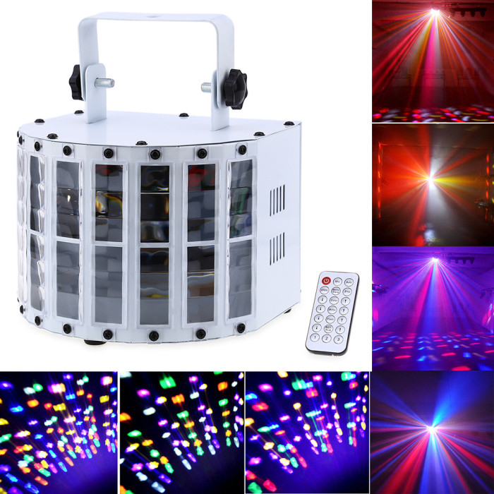 9W sound active auto LED stage strobe light with remote control