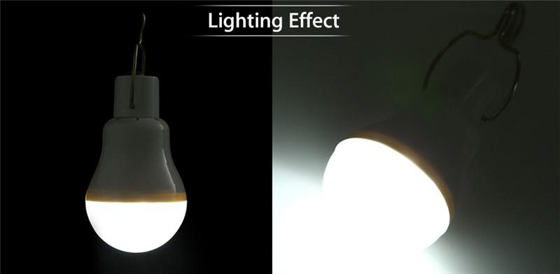 UKKBOL 1.5W 140LM LED light bulb portable solar powered camping Lamp
